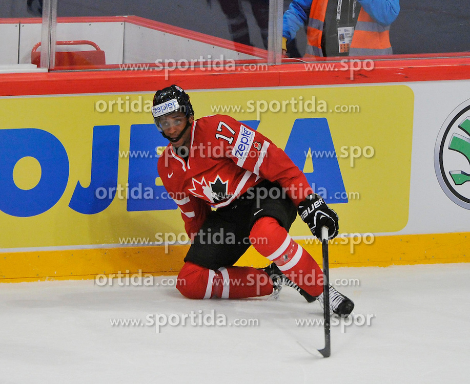 09.05.2013, Globe Arena, Stockholm, SWE, IIHF, Eishockey WM, Schweden vs Canada, im Bild Canada Kanada 17 Wayne Simmonds // during the IIHF Icehockey World Championship Game between Sweden and Canada at the Ericsson Globe, Stockholm, Sweden on 2013/05/09. EXPA Pictures © 2013, PhotoCredit: EXPA/ PicAgency Skycam/ Simone Syversson..***** ATTENTION - OUT OF SWE *****