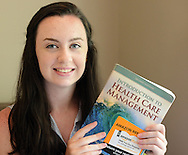 Emily Baus, 17, poses for a photograph Friday June 26, 2015 in Morrisville, Pennsylvania. Bus will be competing in the health care competition of the National Future Business Leaders of America in Chicago next week. (Photo by William Thomas Cain)
