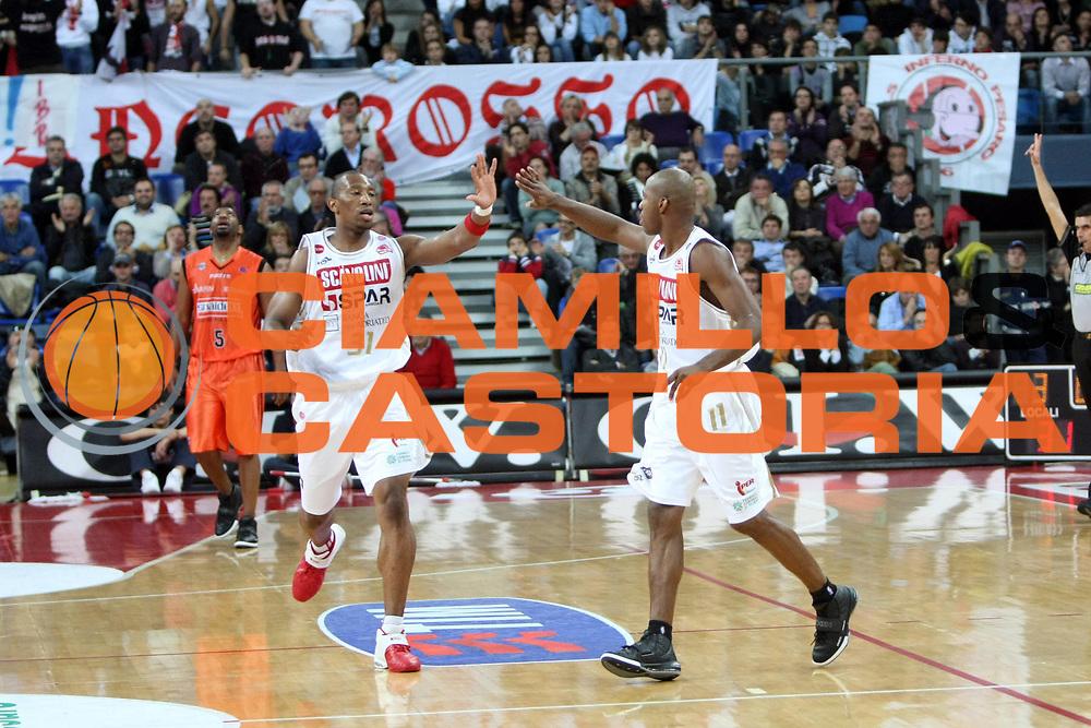 DESCRIZIONE : Pesaro Lega A1 2008-09 Scavolini Spar Pesaro Snaidero Udine<br /> GIOCATORE : LeRoy Hurd<br /> SQUADRA : Scavolini Spar Pesaro<br /> EVENTO : Campionato Lega A1 2008-2009<br /> GARA : Scavolini Spar Pesaro Snaidero Udine<br /> DATA : 16/11/2008<br /> CATEGORIA : Esultanza<br /> SPORT : Pallacanestro<br /> AUTORE : Agenzia Ciamillo-Castoria/C.De Massis<br /> Galleria : Lega Basket A1 2008-2009<br /> Fotonotizia : Pesaro Campionato Italiano Lega A1 2008-2009 Scavolini Spar Pesaro Snaidero Udine<br /> Predefinita :
