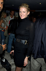 MISS FIONA SCARRY at a party to view the designs of Jessica Simon at the beginning of London Fashion Week held at The Electric Cinema, Portabello Road, London on 19th September 2004.<br />