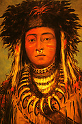 George Catlin (July 26, 1796 – December 23, 1872) was an American painter, author and traveler who specialized in portraits of Native Americans in the Old West.'Boy Chief' (1843) from the Ojibbeway tribe.