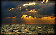 A Break in the Storm over the Gulf of Mexico near Captiva Island, Florida.