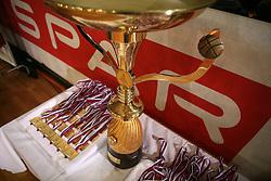 Final match of Spar Cup 2007-08 between Union Olimpija, Ljubljana, Slovenia, and Helios Domzale, Slovenia, on February 10, 2008, in Arena Kodeljevo, Ljubljana, Slovenia. Match and Cup was won by Union Olimpija, who defeated Helios Domzale in final match with 85:66. (Photo by Vid Ponikvar / Sportal Images).