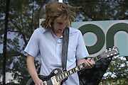 Jun 11, 2004; Manchester, TN, USA;  Carl Broemel of My Morning Jacket performing at Bonnaroo 2004. Mandatory Credit: (©) Copyright 2004 by Bryan Rinnert