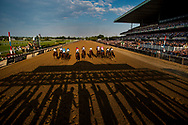 ELMONT, NY - JUNE 10:  Horses break from the starting gate for the Belmont Stakes at Belmont Park on June 10, 2017 in Elmont, New York. (Photo by Alex Evers/Eclipse Sportswire/Getty Images)