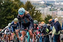Rider of Drops during 1st lap on local circuit, UCI Women WorldTour 81st La Flèche Wallonne at Huy Belgium, 19 April 2017. Photo by Pim Nijland / PelotonPhotos.com | All photos usage must carry mandatory copyright credit (Peloton Photos | Pim Nijland)