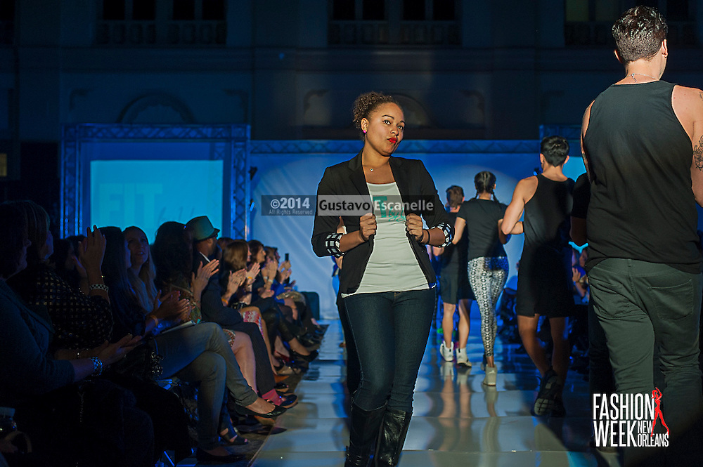 FASHION WEEK NEW ORLEANS: Fit By You show case there fashion design on the runway at the Board of Trade, Fashion Week New Orleans on Wednesday March 19. 2014. #FWNOLA, #FashionWeekNOLA, #Design #FashionWeekNewOrleans, #NOLA, #Fashion #BoardofTrade, #GustavoEscanelle, #TraceeDundas #DominiqueWhite<br /> View more photos at http://Gustavo.photoshelter.com.