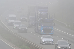 October 5, 2018 - Swanley, UK - SWANLEY, UK..Foggy weather for drivers..Morning fog on the M25 clock-wise into Kent at Swanley. (Credit Image: © Grant Falvey/London News Pictures via ZUMA Wire)