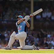 Steve Waugh in action during Australia's Big Bash Cricket match to raise money for the Victorian Bushfire Appeal at the Sydney Cricket Ground, Sydney, Australia on February 22, 2009. The match was attended by over 20,000 spectators. Photo Tim Clayton