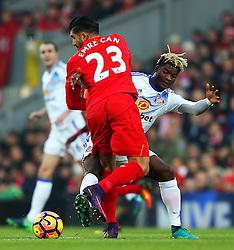 Emre Can of Liverpool challenges Didier Ndong of Sunderland - Mandatory by-line: Matt McNulty/JMP - 26/11/2016 - FOOTBALL - Anfield - Liverpool, England - Liverpool v Sunderland - Premier League