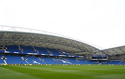 A general view of the pitch prior to the Premier League match at the AMEX Stadium, Brighton.
