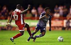 Crawley Town's Aliu Kaby Djalo (left) and Charlton Athletic's Regan Charles-Cook battle for the ball