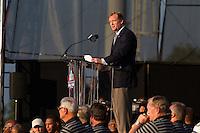 07 August 2010: NFL commishoner Roger Goddell speaks during the enshrinement ceremony at the Pro Football Hall of Fame in Canton, Ohio.