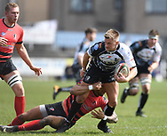 Pontypridd' Lloyd Rowland<br /> Photographer Mike Jones/Replay Images<br /> <br /> Aberavon RFC v Pontypridd RFC <br /> Principality Premiership<br /> Saturday 14th April 2018<br /> Talbot Athletic Ground<br /> <br /> World Copyright © Replay Images . All rights reserved. info@replayimages.co.uk - http://replayimages.co.uk