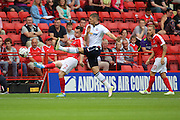 Charlton Athletic defender Kevin Foley (2) clearing ball during the EFL Sky Bet Championship match between Charlton Athletic and Bolton Wanderers at The Valley, London, England on 27 August 2016. Photo by Matthew Redman.