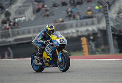 April 21, 2018 - Austin, Texas, U.S.A - 12 THOMAS LUTHI Estrella Galicia 0,0 Marc VDS coming out of turn 1 in the free practice 3 (Credit Image: © Hoss Mcbain via ZUMA Wire)