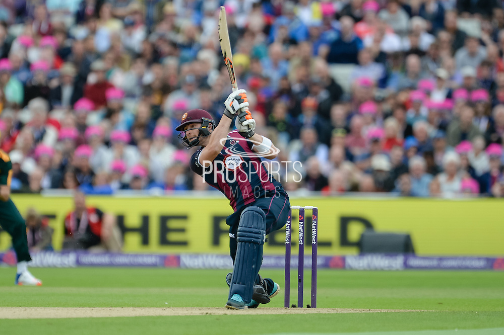Rob Keogh of Northants Steelbacks batting during the NatWest T20 Blast Semi Final match between Nottinghamshire County Cricket Club and Northamptonshire County Cricket Club at Edgbaston, Birmingham, United Kingdom on 20 August 2016. Photo by David Vokes.