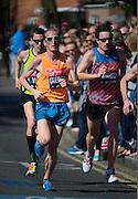 London. United Kingdom. 2014 London Marathon.  Narrow Street Limehouse, East London. Athletics 11:13:01  Sunday  13/04/2014  [Mandatory Credit; Peter SPURRIER/ Intersport Images],