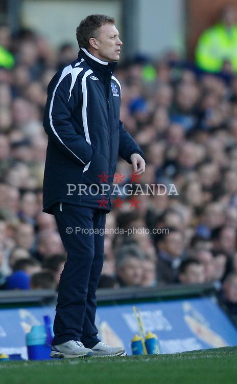 LIVERPOOL, ENGLAND - Saturday, February 9, 2008: Everton manager David Moyes during the Premiership match at Goodison Park. (Photo by David Rawcliffe/Propaganda)