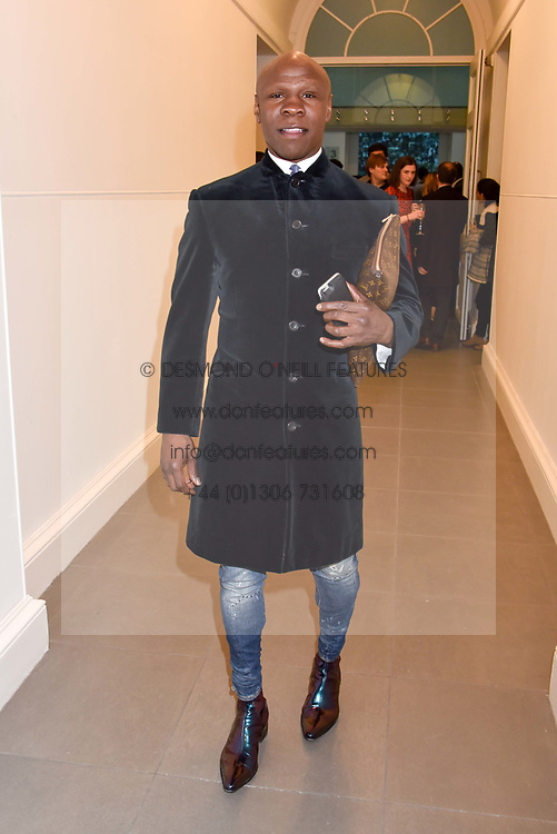 Chris Eubank at a preview of the 'From Selfie To Self-Expression' exhibition at The Saatchi Gallery, Duke Of York's HQ, King's Road, London, England. 30 March 2017.