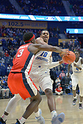 Middle Tennessee Blue Raiders guard Jayce Johnson (10) is defended by Mississippi Rebels guard Terence Davis (3) during an NCAA college basketball game in Nashville, Tenn., Friday, Dec. 21, 2018. (Jim Brown/Image of Sport)