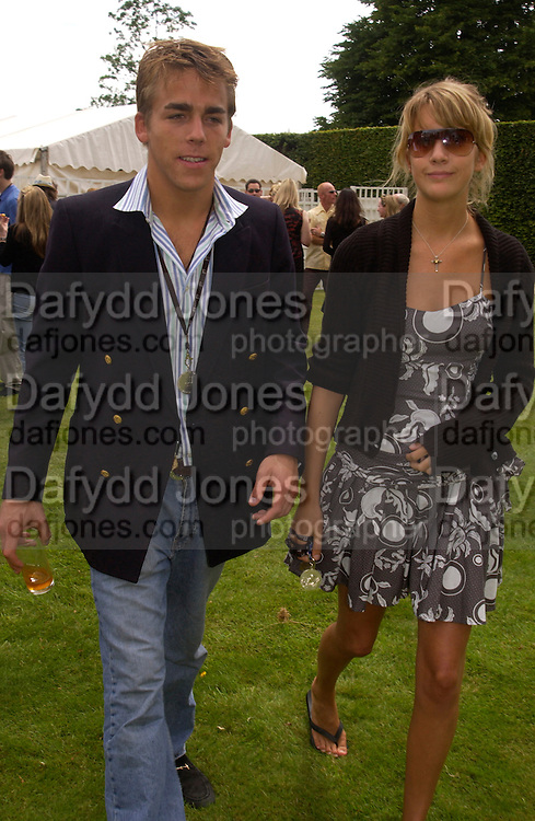 William Wells and Lady Shrimpy Balfour, Cartier Style Et Luxe, Goodwood, 27 June 2004. SUPPLIED FOR ONE-TIME USE ONLY-DO NOT ARCHIVE. © Copyright Photograph by Dafydd Jones 66 Stockwell Park Rd. London SW9 0DA Tel 020 7733 0108 www.dafjones.com