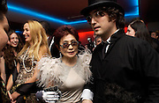 Elizabeth Jagger, Jerry Hall, Yoko Ono and Sean Lennon. Andy & Patti Wong's Chinese New Year party to celebrate the year of the Rooster held at the Great Eastern Hotel, Liverpool Street, London.29th January 2005. The theme was a night of hedonism in 1920's Shanghai. . ONE TIME USE ONLY - DO NOT ARCHIVE  © Copyright Photograph by Dafydd Jones 66 Stockwell Park Rd. London SW9 0DA Tel 020 7733 0108 www.dafjones.com