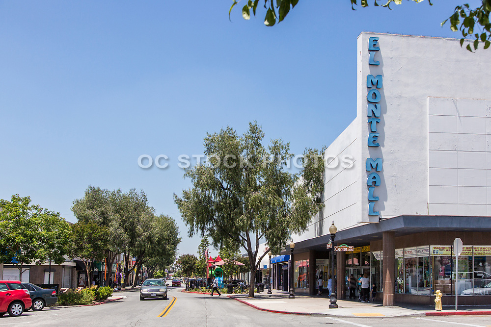 El Monte Mall Street Scene at Center Ave