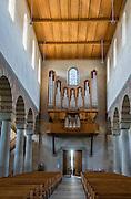 Pipe organ. The cathedral of Münster Allerheiligen (All Saints Church) was built in Romanesque style in 1103, the oldest building in Schaffhausen. Kloster Allerheiligen (All Saints Abbey) is a former Benedictine monastery in Schaffhausen, Switzerland, Europe.