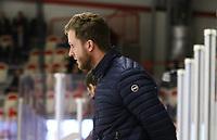 2020-02-12 | Ljungby, Sweden: Huddinge IK assistent coach Christopher From Björk during the game between IF Troja / Ljungby and Huddinge IK at Ljungby Arena ( Photo by: Fredrik Sten | Swe Press Photo )<br /> <br /> Keywords: Ljungby, Icehockey, HockeyEttan, Ljungby Arena, IF Troja / Ljungby, Huddinge IK, fsth200212, ATG HockeyEttan, Allettan