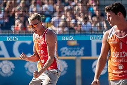 25-08-2019 NED: DELA NK Beach Volleyball, Scheveningen<br /> Last day NK Beachvolleyball / Stefan Boermans #2, Dirk Boehlé #1