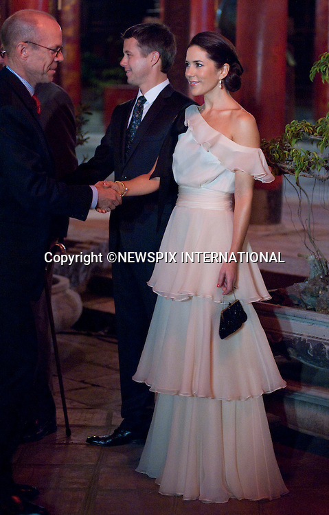 "CROWN PRINCESS MARY AND CROWN PRINCE FREDERIK OF DENMARK.Return Banquet hosted by Queen Margrethe and Prince Henrik for the President Nguyen Minh Triet of Vietnam  and First Lady Tran Thi Kim Chi,The Temple of Literature, Hanoi_3/11/2009.The Danish Royal Family are on a five day State Visit to Vietnam..Mandatory Photo Credit: ©Dias/Newspix International..**ALL FEES PAYABLE TO: ""NEWSPIX INTERNATIONAL""**..PHOTO CREDIT MANDATORY!!: NEWSPIX INTERNATIONAL(Failure to credit will incur a surcharge of 100% of reproduction fees)..IMMEDIATE CONFIRMATION OF USAGE REQUIRED:.Newspix International, 31 Chinnery Hill, Bishop's Stortford, ENGLAND CM23 3PS.Tel:+441279 324672  ; Fax: +441279656877.Mobile:  0777568 1153.e-mail: info@newspixinternational.co.uk"