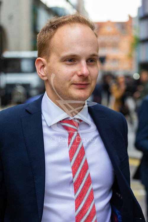 James Hodder outside the Old Bailey In London as the London Bridge terror attack inquest continues. London, May 17 2019.