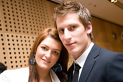 Valter Birsa and his girlfriend Mateja at official presentation of Slovenian National Football team for World Cup 2010 South Africa, on May 21, 2010 in Congress Center Brdo at Kranj, Slovenia. (Photo by Vid Ponikvar / Sportida)