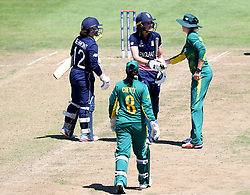 Sarah Taylor of England Women shakes hands with the South Africa Women players after scoring a career best 147  runs - Mandatory by-line: Robbie Stephenson/JMP - 05/07/2017 - CRICKET - County Ground - Bristol, United Kingdom - England Women v South Africa Women - ICC Women's World Cup Group Stage