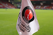 Charlton Athletic corner flag during the EFL Sky Bet League 1 match between Charlton Athletic and AFC Wimbledon at The Valley, London, England on 28 October 2017. Photo by Matthew Redman.