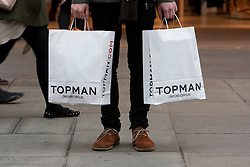 © Licensed to London News Pictures. 20/01/2012. London, U.K..Shoppers in the West End of London taking advantage of sales. Retail sales figures are released today..Photo credit : Rich Bowen/LNP