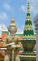 Guardian at Wat Phra Kaew Buddhist temple near Royal Grand Palace Bangkok Thailand&#xA;<br />