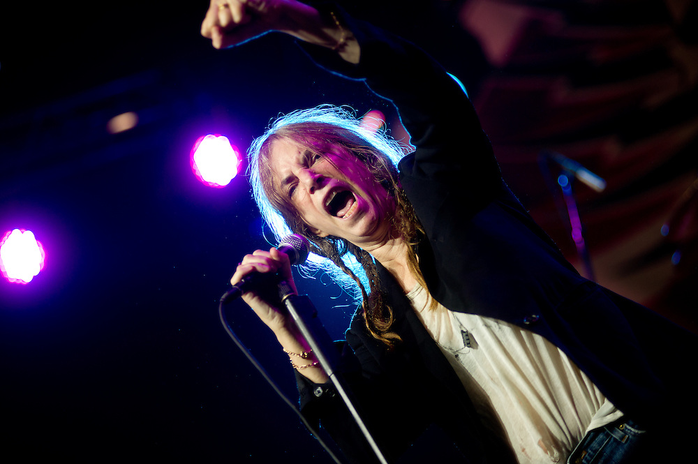 Patti Smith brings the crowd to smiles and happy tears at the Pavilion Stage.