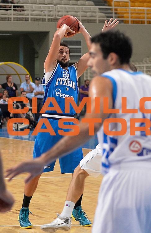 DESCRIZIONE : Atene Akropolis Cup Italia Grecia Italy Greece<br /> GIOCATORE : Marco Stefano Belinelli<br /> CATEGORIA : passaggio<br /> SQUADRA : Nazionale Italia Maschile Uomini<br /> EVENTO : Atene Akropolis Cup<br /> GARA : Italia Grecia Italy Greece<br /> DATA : 29/08/2013<br /> SPORT : Pallacanestro<br /> AUTORE : Agenzia Ciamillo-Castoria/R.Morgano<br /> Galleria : FIP Nazionali 2013<br /> Fotonotizia : Atene Akropolis Cup Italia Grecia Italy Greece<br /> Predefinita :