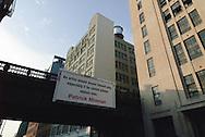 Chelsea,  New York City, NY sign, Patrick Mimran, Highline