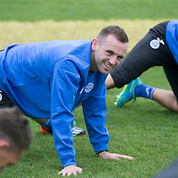 St Johnstone Training....03.10l14<br /> James McFadden pictured in training this morning ahead of tomorrow's game against St Mirren<br /> Picture by Graeme Hart.<br /> Copyright Perthshire Picture Agency<br /> Tel: 01738 623350  Mobile: 07990 594431