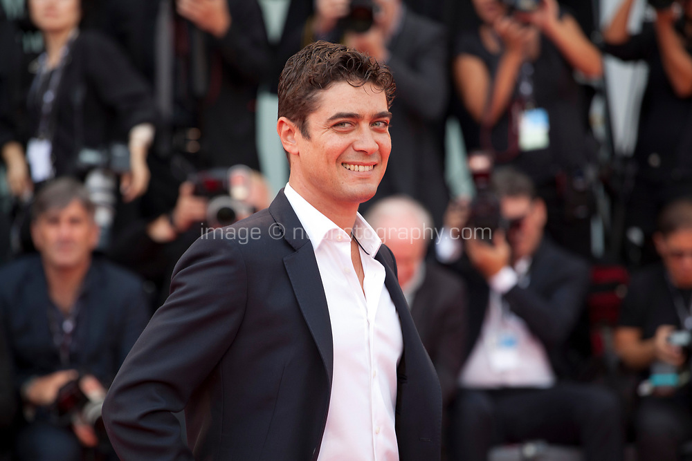 Riccardo Scamarcio at the premiere of the film Suburbicon at the 74th Venice Film Festival, Sala Grande on Saturday 2 September 2017, Venice Lido, Italy.