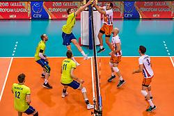 20-05-2018 NED: Netherlands - Slovenia, Doetinchem<br /> First match Golden European League / Toncek Stern #1 of Slovenia, Wouter ter Maat #16 of Netherlands