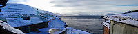 Norway, Hammerfest. View from the Rica hotel. Stitched panorama.