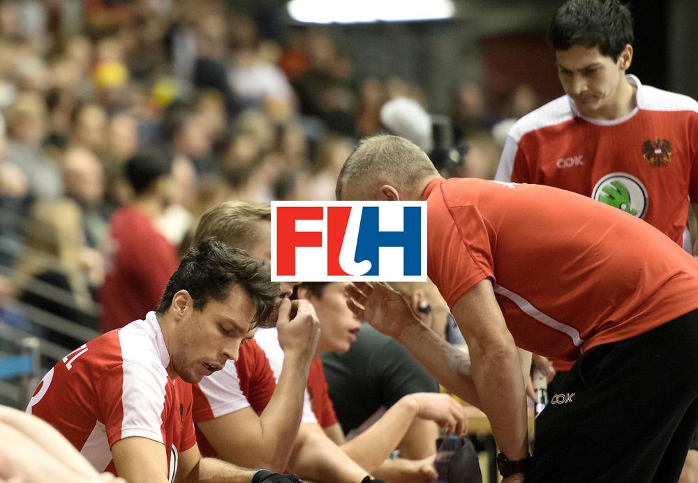BERLIN - Indoor Hockey World Cup<br /> SF2 Australia - Austria<br /> foto: SZMIDT Tomasz and Michael K&ouml;rper <br /> WORLDSPORTPICS COPYRIGHT FRANK UIJLENBROEK