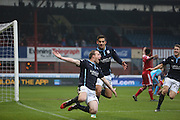 David Clarkson celebrates after firing Dundee into the 5th round -  Dundee v Aberdeen, William Hill Scottish FA Cup 4th round at Dens Park<br /> <br />  - &copy; David Young - www.davidyoungphoto.co.uk - email: davidyoungphoto@gmail.com