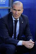 Real Madrid head coach Zinedine Zidane during the Spanish championship Liga football match between Alaves and Real Madrid on September 23, 2017 at the Mendizorroza stadium in Vitoria, Spain - Photo Irina RH / Spain ProSportsImages / DPPI / ProSportsImages / DPPI
