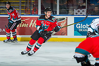 KELOWNA, CANADA - DECEMBER 2: Conner Bruggen-Cate #20 of the Kelowna Rockets skates against the Kootenay Ice on December 2, 2017 at Prospera Place in Kelowna, British Columbia, Canada.  (Photo by Marissa Baecker/Shoot the Breeze)  *** Local Caption ***