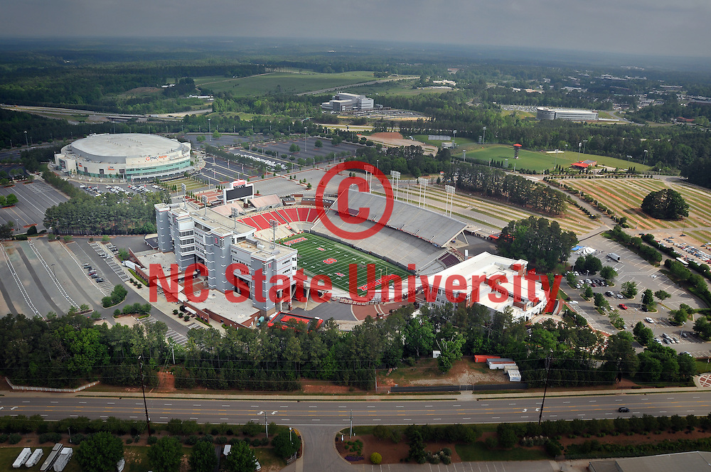Aerial view of the athletics complex.